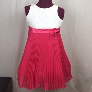 emily west Dresses - Pink and White Formal Dress